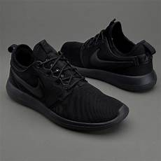 mens shoes nike sportswear roshe two black black