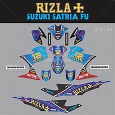 Stiker Motor Satria Fu by Jual Sticker Striping Motor Stiker Suzuki Satria Fu Rizla