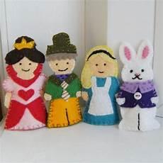 in finger puppet set in wool felt