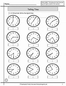 printable worksheets about telling time 3718 are asked to read the on the clocks and write the correct time on the lines