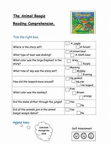 animal boogie worksheets 13809 the animal boogie reading comprehension by kayld teaching resources