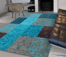 tapis salon bleu turquoise id 233 es de d 233 coration