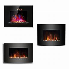 Led Effect Wall Mounted Electric Fireplace