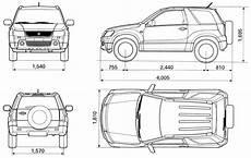 2006 Suzuki Grand Vitara Suv V2 Blueprints Free Outlines