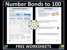 addition and subtraction number bonds to 100 and word problems free worksheets teaching