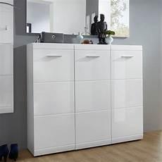 meuble chaussure laqué grand meuble a chaussures blanc design 36 paires alama