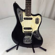 fender jaguar 1963 black with white pickguard reverb