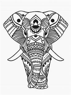 malvorlagen f 252 r erwachsene elefanten coloring pages