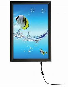 11x17 illuminated light box for wall mounted 25mm profile black