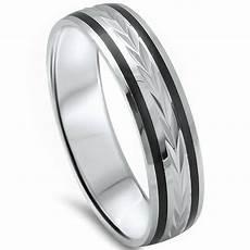 men 5mm black onyx comfort fit 925 sterling silver