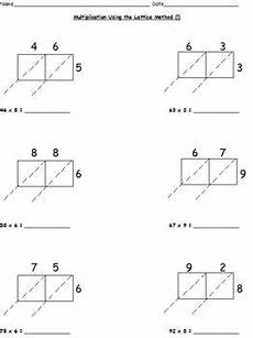 multiplication worksheets lattice partial products