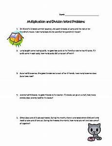multiplication and division word problem worksheets 3rd grade 11409 multiplication and division word problems 3rd grade by miss palmerton