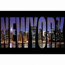 sous new york pour bureau new york lettres tableau d 233 co sur glass 40x60cm