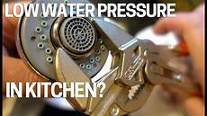 no water pressure in kitchen faucet low water pressure flow kitchen faucet easy fix