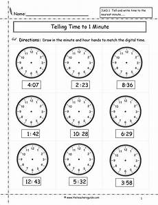 analog time worksheets grade 4 3349 telling time worksheets from the s guide clock worksheets math worksheets