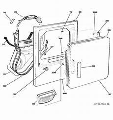 ge electric dryer parts diagram front panel door diagram parts list for model dblr333ee2ww ge parts dryer parts