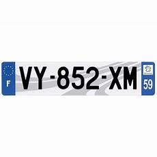 Plaque Immatriculation 3d Plexi 520 X 110 Mm D 233 Partement