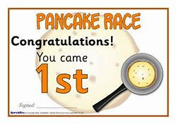 Image result for pancake race