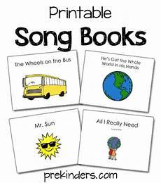 song books prekinders