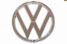1973 1979 type 2 vw front nose emblem chrome ebay