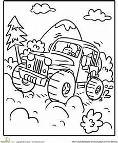 transportation coloring worksheets 15179 road vehicle worksheet education