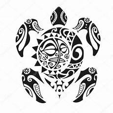 Maorie Schildkröte - schildkr 246 te maori stil vektor illustration eps10