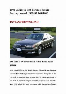 how to download repair manuals 1998 infiniti i spare parts catalogs 1998 infiniti i30 service repair factory manual instant download