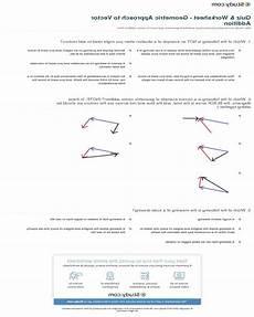 vector addition worksheet linfield summer answer key math worksheets printable