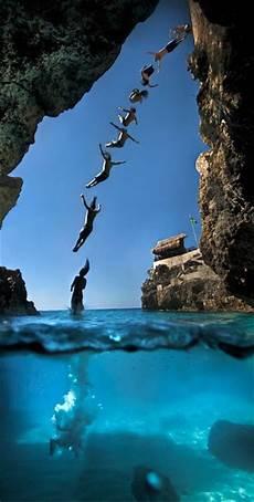 beautiful resort cliff diving