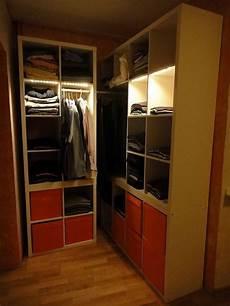 Kallax Wardrobe In A Corner Ikea Hackers