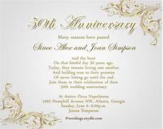 Wedding Anniversary Invite Wording