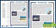 australia day differentiated reading comprehension