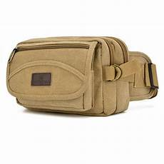 2017 new fashion high quality canvas waist bag money belt multifunction travel bags 4