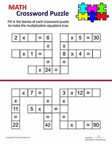 multiplication riddle worksheets 4th grade 4576 multiplication crossword math worksheets