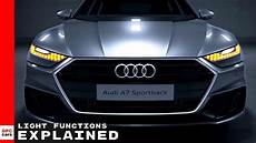 2019 Audi A7 Headlights by 2019 Audi A7 Light Functions Explained