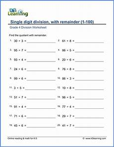 division worksheets grade 4 printable 6549 grade 4 mental division worksheets free printable k5 learning