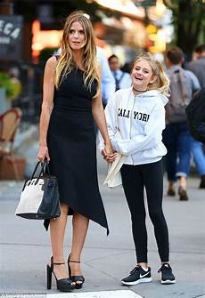 Heidi Klum Runs Errands With Mini Me Leni In Nyc