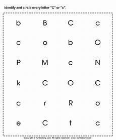 alphabet worksheets letter c 24037 identifying lowercase and uppercase letter c worksheet turtle diary