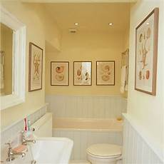 Small Bathroom Ideas Yellow by Yellow Bathroom With White Suite And Tongue And Groove