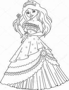 princess mermaid coloring page stock vector 169 malyaka