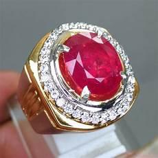 batu cincin permata merah ruby corundum asli kode 1263 wahyu mulia
