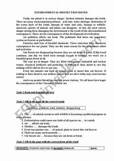 nature protection worksheets 15140 environmental protection issues esl worksheet by zotkinalubov
