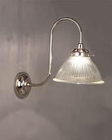 carey prismatic glass shade swan neck bathroom wall light