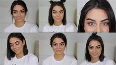 6 heatless back to school hairstyles for short hair youtube