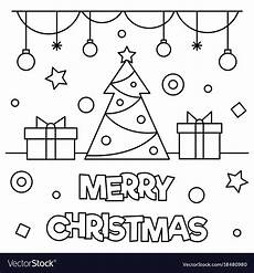 merry christmas picture to colour merry christmas coloring page royalty free vector image