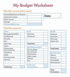 free 12 sle budget worksheets in docs sheets ms excel ms word numbers