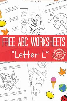 letter l worksheets free kids printable
