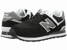 new balance m574 in black for black grey white lyst