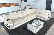 sofa led leather corner sofa manhattan l shape with led lights ebay