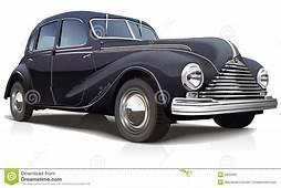 Vector Illustration Retro Car Stock